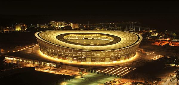 DHL Stadium at night